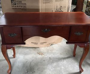 Cherry vanity/desk/console table for Sale in Prospect, ME