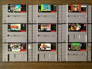 Lot of 9 Super Nintendo SNES Games Mario Paint, Paperboy + More for Sale in Monroeville, PA