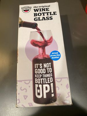 The original wine bottle glass- brand new! for Sale in Springfield, MA