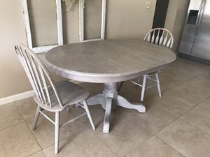Refurbished Gray Table and 2 Chairs for Sale in Scottsdale, AZ