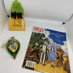 Wizard Of Oz, Life Magazine 2013, Bradford Edition Ornament 2002 The Wonders Of OZ, Hallmark Perpetual Calendar $60 for Sale in Tampa, FL