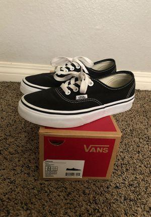 Authentic black vans! for Sale in Colton, CA