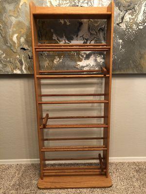 7 tier solid wood shoe rack 5 foot shoe organizer for Sale in Gilbert, AZ