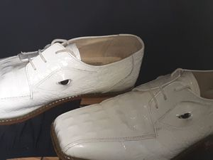 Fortune from Liberty men's white gator shoes with eyes for Sale in Columbus, OH