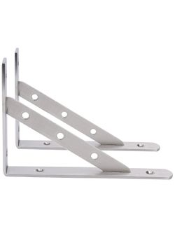 """Amarine Made Pair Stainless Steel Solid Shelf Brackets,8"""",10"""",12"""", Shelf Support Corner Brace Joint Right Angle Bracket (8""""X5-1/2"""") for Sale in Las Vegas,  NV"""