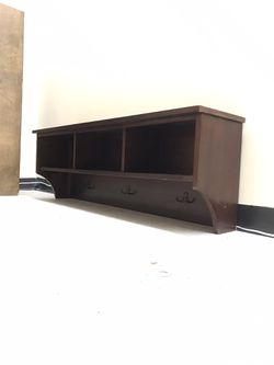 Excellent Condition Entry way wall organizer shelf cubby coat hanger for Sale in Shoreline,  WA