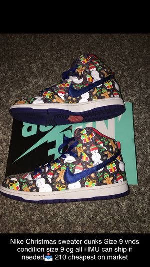 Nike Christmas sweater dunks for Sale in Peoria, AZ