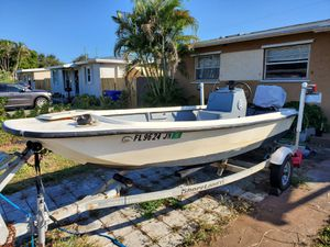 [TRADE] 16' flat bottom with 1996 Evinrude 60 HP for Sale in Pembroke Pines, FL