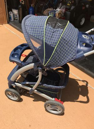 Graco stroller blue and lime green for Sale in Orlando, FL