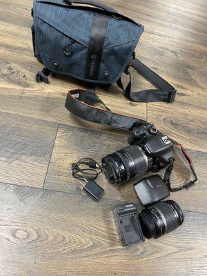 Canon Rebel T2i Set - lenses, case, flash for Sale in Avon, CT