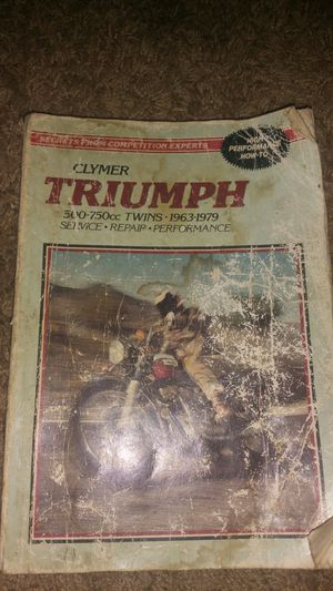 Repair manual fir Triumph motorcycle for Sale in Murphysboro, IL