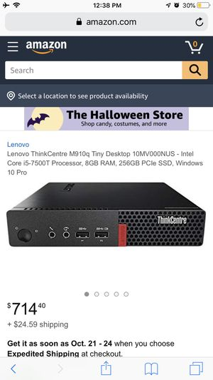 Lenovo Thinkcentre M910q Tiny desktop for Sale in Stanton, CA