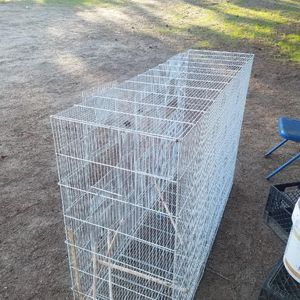 Used bird cage 5ft long 39 inches high and 18 in wide for Sale in Los Angeles, CA