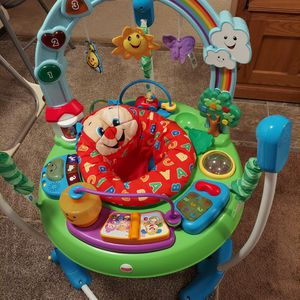 Fisher Price Laugh and Learn with Puppy Jumperoo (Great Condition) Lots of Lights, Music and Sounds $35 🌻IF INTERESTED PLEASE MESSAGE ME for Sale in Parkland, WA