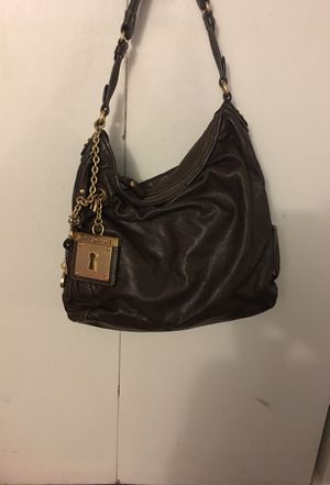 Juicy couture vintage shoulder bag brown with charm for Sale in Greenbelt, MD