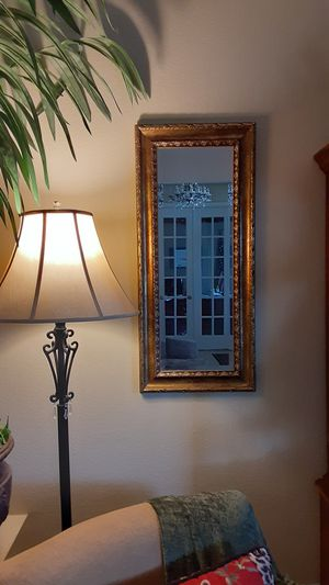 "Beveled Gold leaf gilded Mirror, vertical or horizontal 38"" x 17"" x 1.5"" for Sale in Valrico, FL"