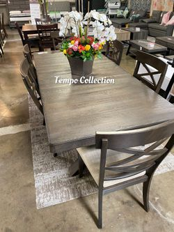 NEW, 7PC Wire Brushed Dining Room SET, SKU# 7811 for Sale in Westminster,  CA