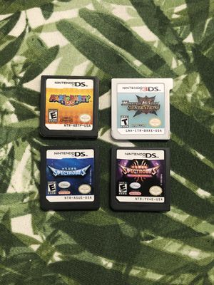 4 Nintendo DS GAMES - Authentic - Spectrobes, Mario Party, Monster Hunter Generations, Spectrobes: Beyond the Portals for Sale in Warwick, RI