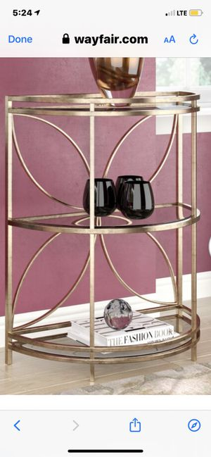 Gold 3 tier bar/console table for Sale in Chicago, IL
