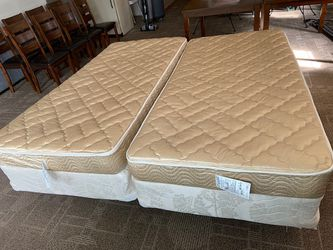 2 twin-size beds make King size bed includes nice mattress pads and king sheets for Sale in Snohomish,  WA