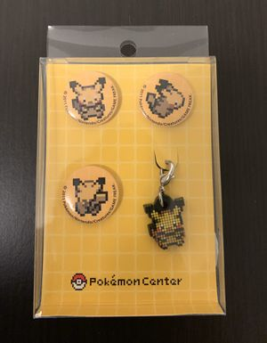 Pokemon center badge and charm set 2011 for Sale in Los Angeles, CA