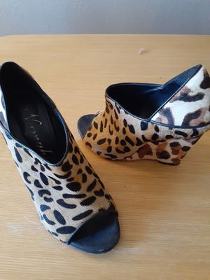 Leopard Namubana size 37, black high topped heels 6.5 for Sale in Glendale, AZ