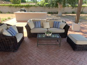 Outdoor sofa/chair/ottoman/table with cushions for Sale in Phoenix, AZ