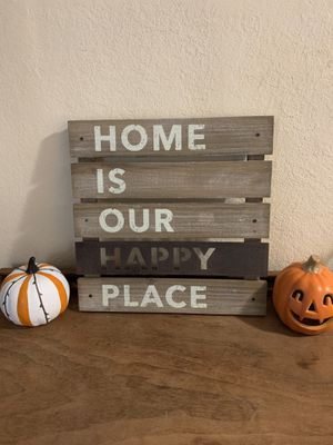 Wood home wall decore sign for Sale in Salem, OR