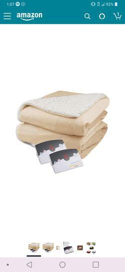 Biddeford Sherpa and Micro Mink Heated Blanket for Sale in Fallbrook,  CA