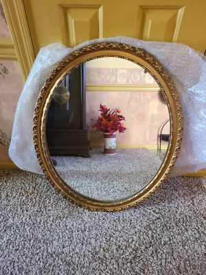 Round Wall Mirror - Gold Frame for Sale in Spring City, PA
