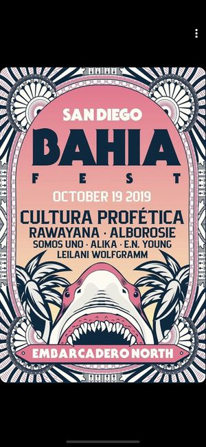 Bahia fest ticket for Sale in Escondido, CA