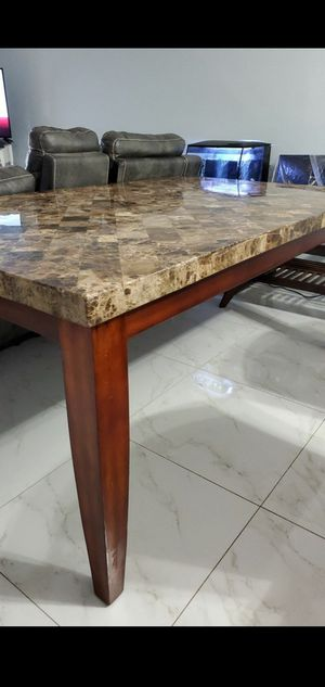 Beautiful REAL Granite Dining Table! for Sale in Pompano Beach, FL