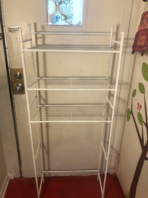 White bathroom storage rack for Sale in Alexandria, VA