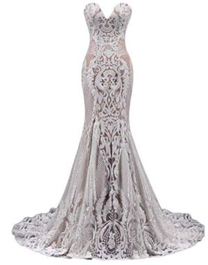 New Sequin mermaid sweetheart neckline wedding dress size 4 for Sale in North Las Vegas, NV
