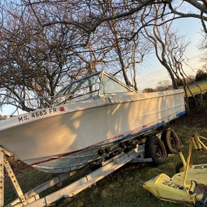 Boat,Leg,and 20 Foot Trailer for Sale in Little Compton, RI