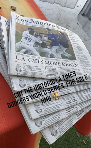 DODGER CHAMPIONS LA TIMES for Sale in South Gate, CA