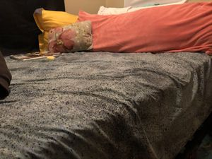 Black Full Size Metal Bedframe for sale IF you want the mattress too $130 price negotiable COLLEGE STUDENT NEED GONE ASAP for Sale in STUYVSNT PLZ, NY