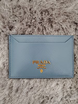 Prada Saffiano Slate Blue Card Case for Sale in Bellevue, WA