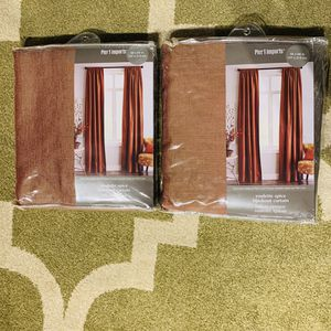Pier 1 Imports 2 Roulette Spice Blackout Curtains 50x84in (Each Pack Contains 1 Curtain) for Sale in Washington, DC