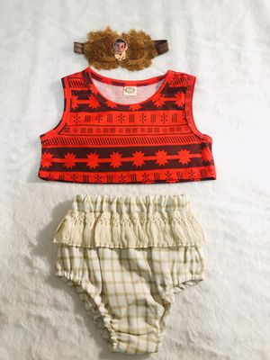 9/12mo baby Moana summer outfit set for Sale in Chula Vista, CA