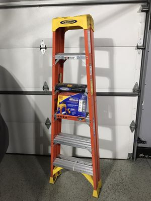 Werner 6 ft. Fiberglass Twin Step Ladder with 300 lbs. Load Capacity Type IA Duty Rating for Sale in Lemont, IL