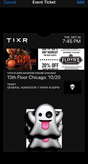 (4) 13th Floor Haunted Mansion Tickets for Sale in Chicago, IL