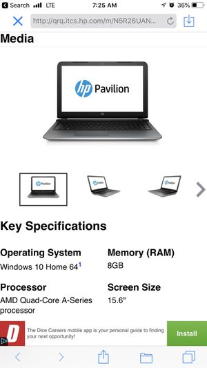 Laptop HP for Sale in Revere, MA