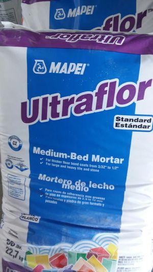 Mapei Ultraflor white Thinset for Sale in Las Vegas, NV