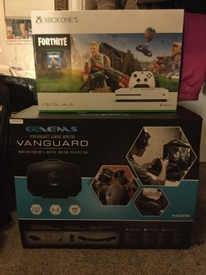 """Xbox one s 1 TB """"Fortnight"""" edition with Gaems 19inch Vanguard Monitor both (UNBOXED BRAND NEW) for Sale in Brier, WA"""