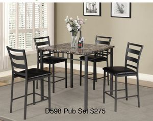 Pub table with 4 chairs for Sale in Atlanta, GA