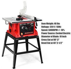 "10"" Table Saw Electric Cutting Machine Aluminum Tabletop Woodworking Station for Sale in Dallas, TX"