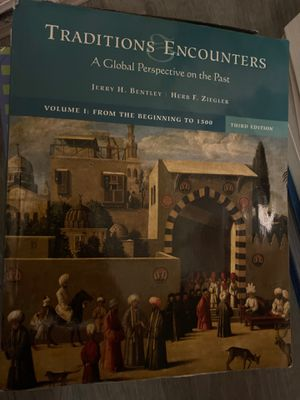 Traditions & Encounters: A Global Perspective on the Past Bentley Ziegler Volume 1 third editon for Sale in Ithaca, NY