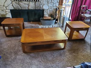 Wood coffee and end tables for Sale in Monroe, WA