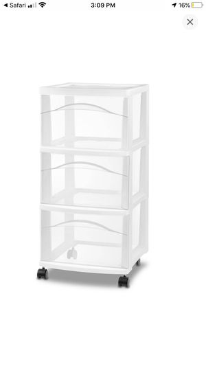 3 drawer plastic organizer (used) for Sale in City of Industry, CA